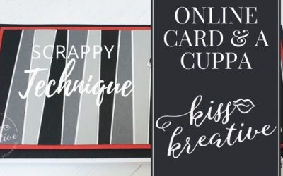 Online Card and a Cuppa – Scrappy Strip Technique