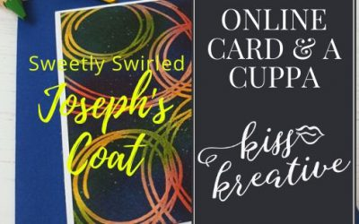 Online Card and a Cuppa – Sweetly Swirled Joseph's Coat Technique Card