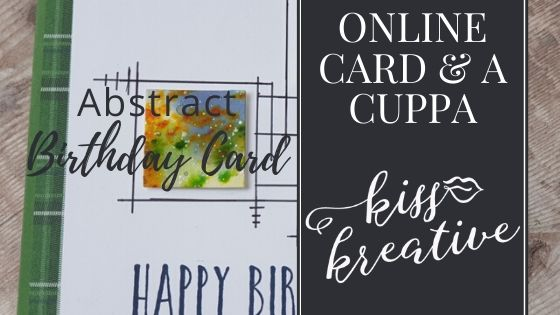Online Card and a Cuppa – Abstract Art Birthday Card