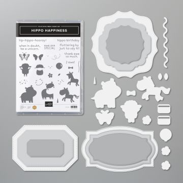 Casually Crafting Blog Hop Simple cards using the Hippo Happiness Bundle