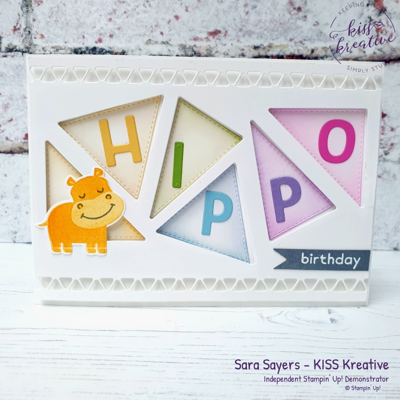 Stampin Up Hippo Happiness cards by Sara Sayers KISS Kreative