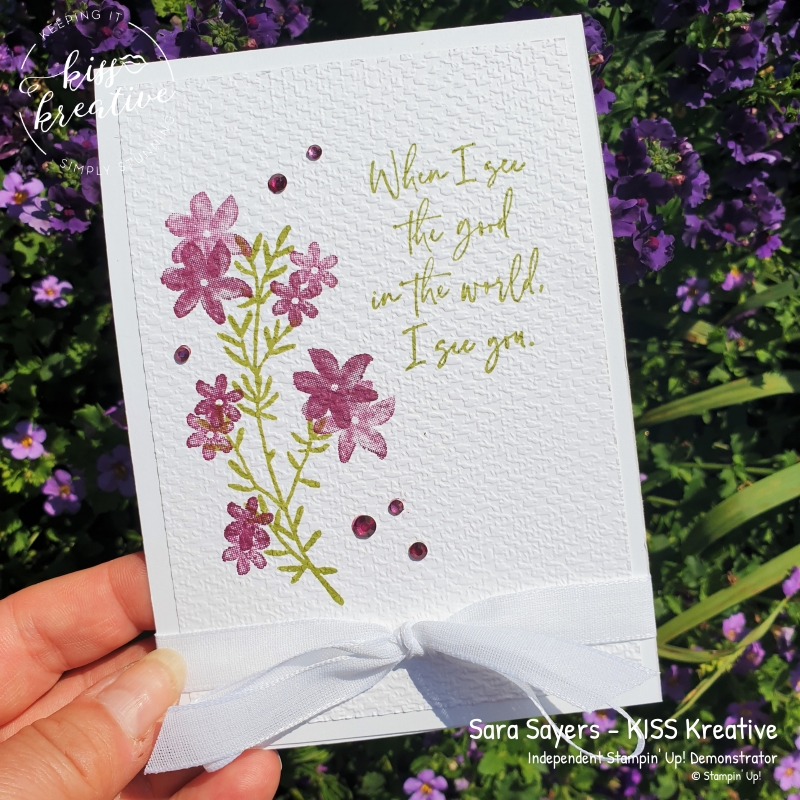 Simple Cards using See the Good by Stampin Up