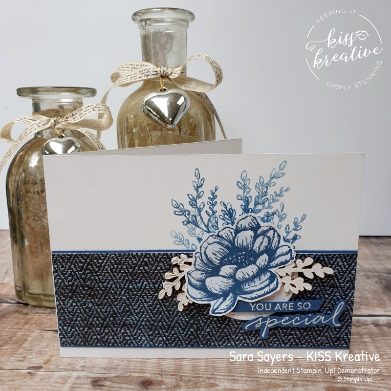 Pretty Cards and Paper - In Good Taste Simple Embossed Flower Card