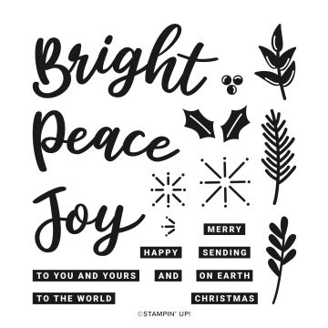 Stampin Up simple cards using Peace and Joy Bundle