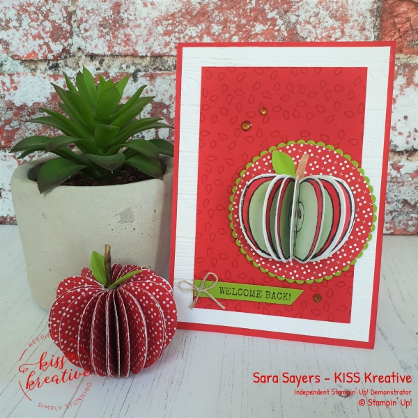 Simple Back to school cards using Harvest Hello by Stampin Up