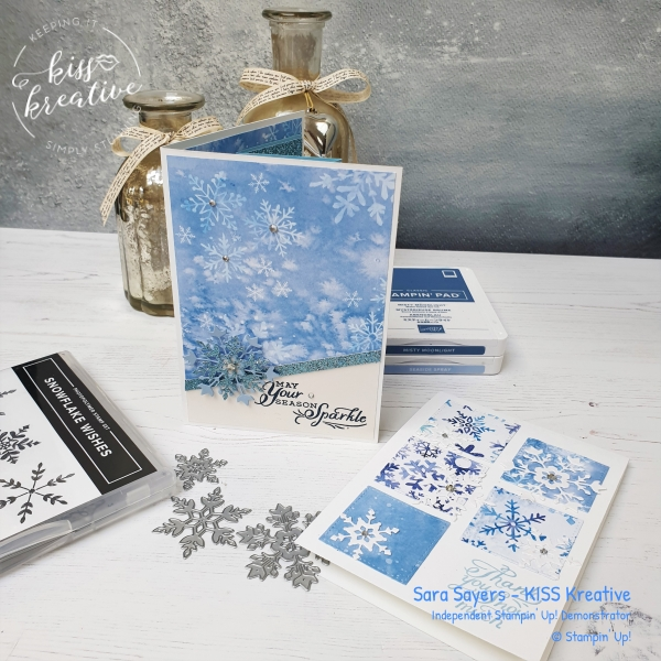 Stunning cards using the Snowflake Wishes bundle