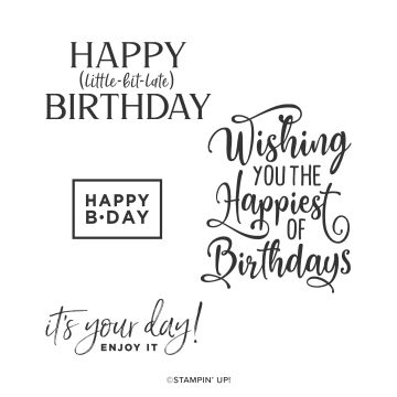 Share it Sunday easy Card using Happiest of Birthdays from Stampin