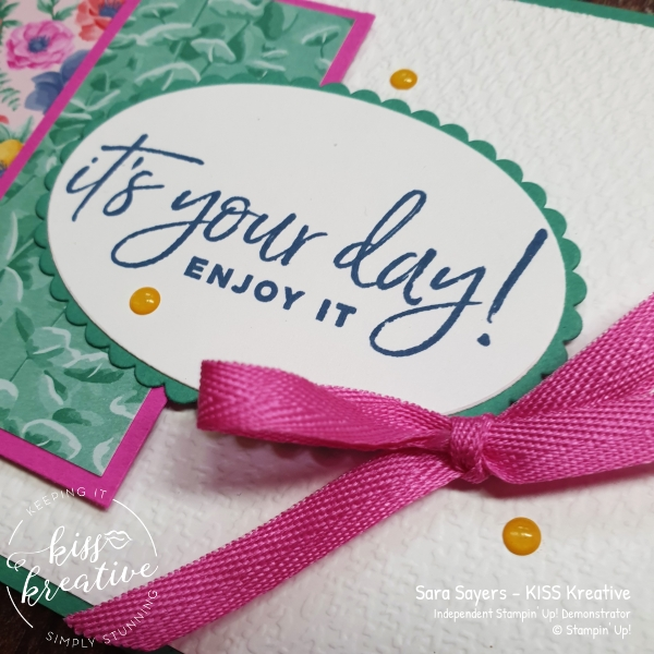 Share it Sunday easy Card using Happiest of Birthdays from Stampin Up