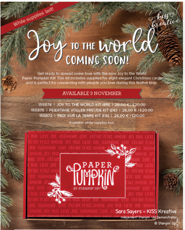 Joy to the world Paper Pumpkin  available from Sara Sayers at KISS Kreative whilst stocks last