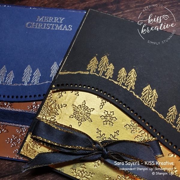 Quick and simple Heat Embossed card using Curvy Christmas and Curvy Dies from Stampin Up