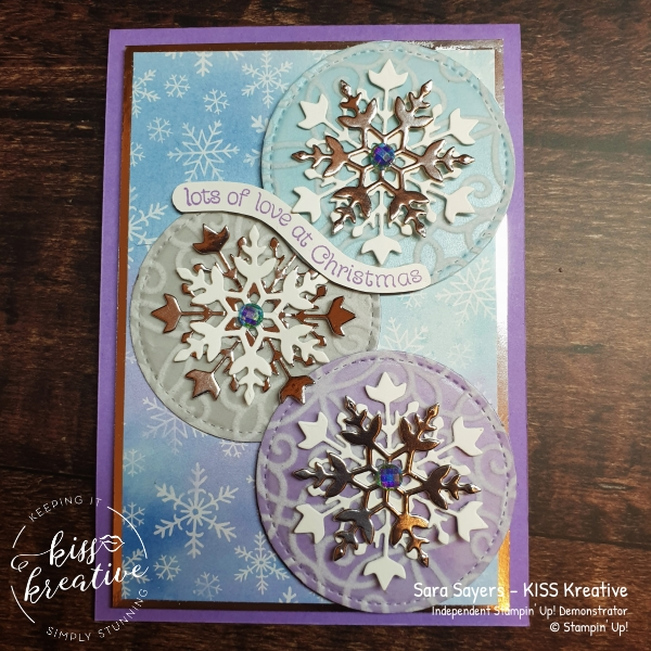 Jacquard effect Stitched shapes using the Plush Poinsettia Speciality Designer Series paper from Stampin Up!
