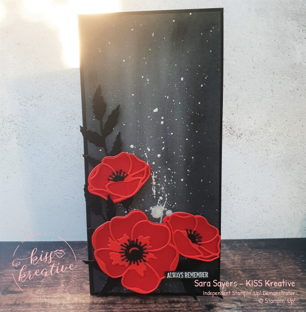 Armistice Day 11th November Remember Always Poppy Moments Card and Wreath from Stampin Up