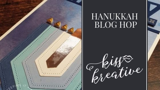 Easy Nested Label Menorah Card- Hanukkah Blog Hop