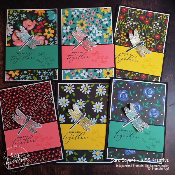 Simple cards using Heal your Heart plus  Flower and Field Designer Series Paper for Salebration
