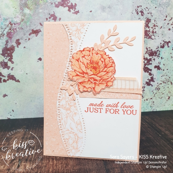 Easy colour cards with Curvy dies and Prized Peony