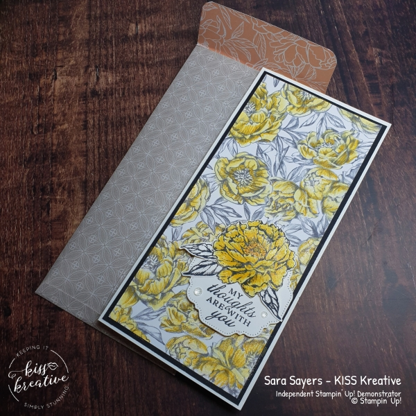 Peony Garden Slim Line Cards with Prized Peony Bundle from Stampin Up