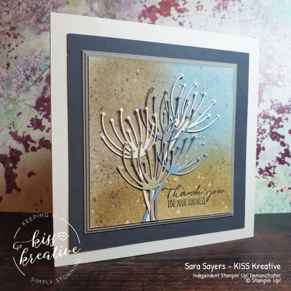 Stunning blended card using Garden Wishes from Dandy Garden by Stampin Up
