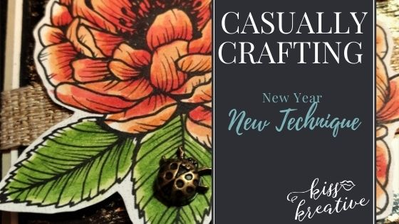 Gilded Leafing, New Year, New Technique Casually Crafting Blog Hop