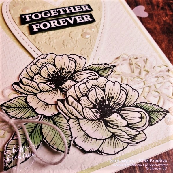 Pretty Wedding Engagement Anniversary Valentines card using Forever and Always Stamp Set by Stampin Up